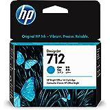 HP 712 Cyan 29-ml Genuine Ink Cartridge (3ED67A) for DesignJet T650, T630, T230, T210 & Studio Plotter Printers