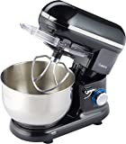 Savisto 800w Retro Food Stand Mixer With 5.5L Bowl, Splash Guard, Dough Hook, Whisk, Beater & 2 Year Warranty – Black