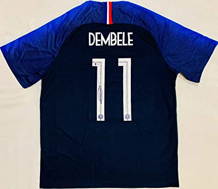 7bb45c0cf Image Unavailable. Image not available for. Color: Ousmane Dembele Signed  Jersey - France ...