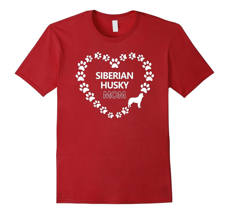 Siberian Husky Mom Womens Dog Gift T-Shirt-TH