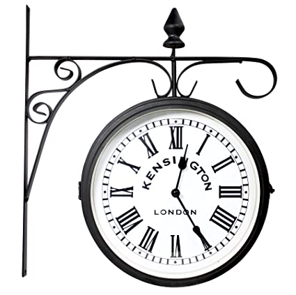 Large Garden Clock/Thermometer