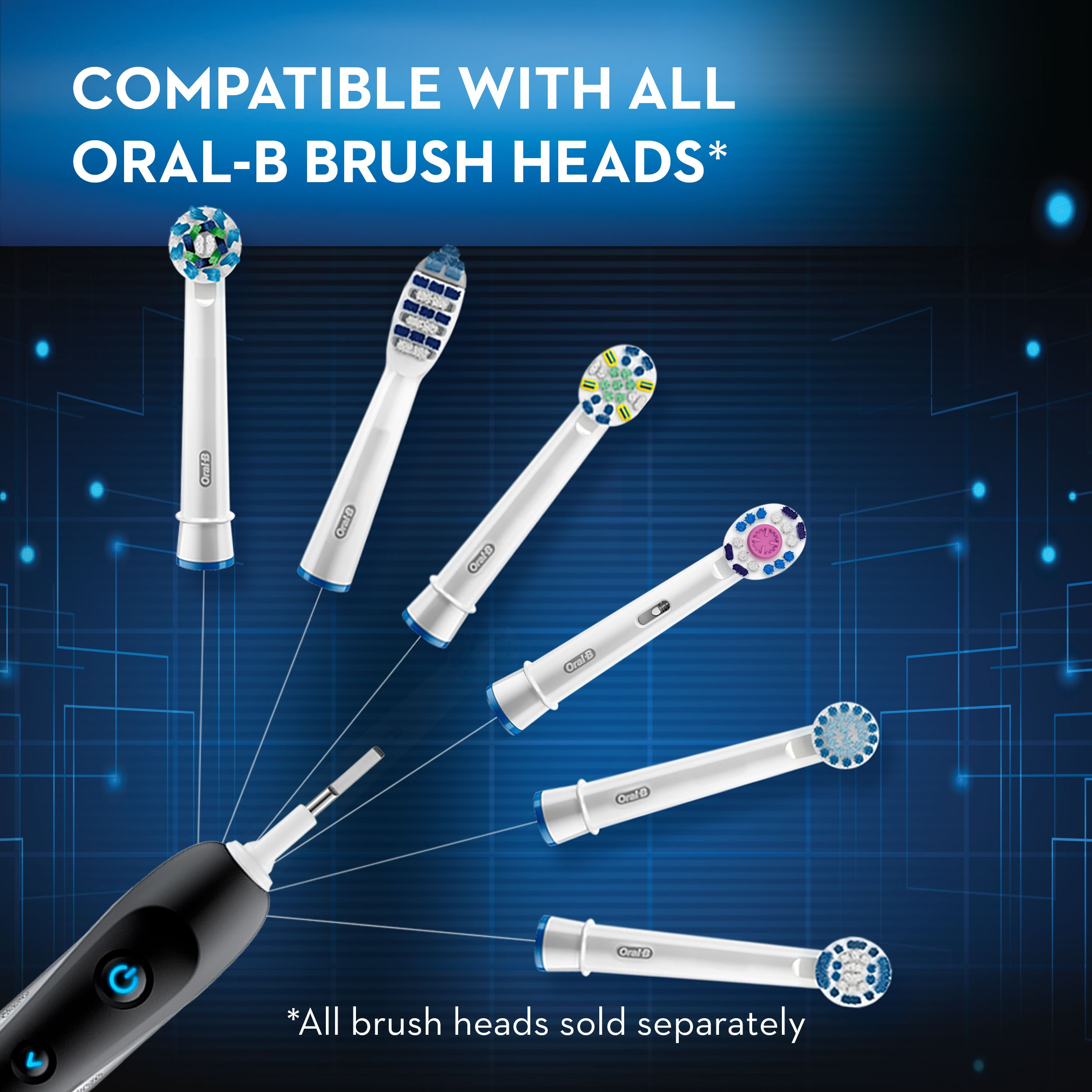 Oral-B 7000 SmartSeries Rechargeable Power Electric Toothbrush with 3 Replacement Brush Heads, Bluetooth Connectivity and Travel Case, Amazon Dash Replenishment Enabled by Oral-B (Image #6)