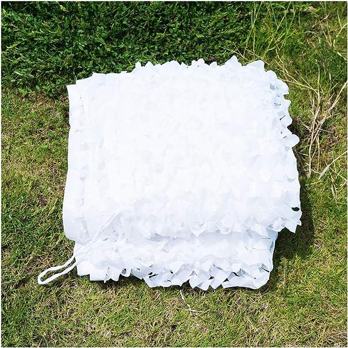 Blancs Renforc/é Filet d ombrage Filet de Camouflage R/ésistantes au Feu//Aux Flammes Auvents pour la Chasse Tentes auvents terrasse auvents terrasse 2x3 3x5 8m Filet de Protection Solaire pour Jardin