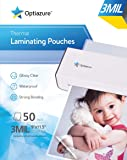 "Optiazure Thermal Laminating Pouches 9""x11.5"" Inches, 3mil 50Pack, Clear and Sturdy, Letter Size"