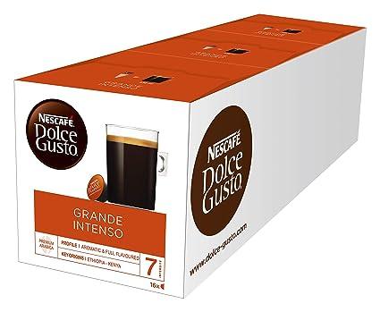 NESCAFÉ Dolce Gusto Grande Intenso | 48 Kaffeekapseln | Arabica Bohnen aus Ostafrika und Südamerika | Haselnussbraune Crema |