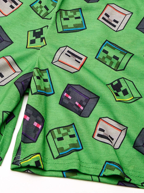 Amazon.com: Minecraft - Pijama para niño (2 piezas): Clothing