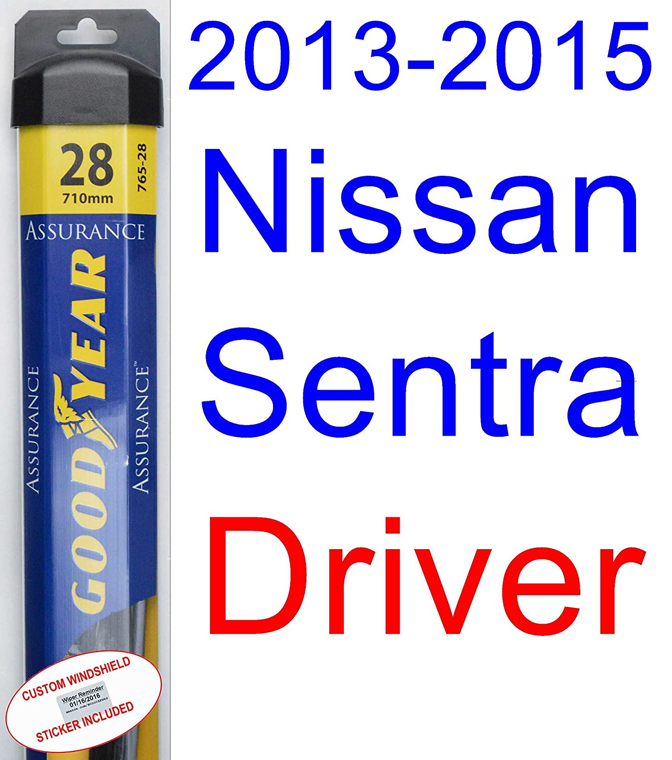 2013 2015 Nissan Sentra Replacement Wiper Blade Set Kit Diagram Of 1988 Stanza Engine 2 Blades Goodyear Assurance 2014 Automotive