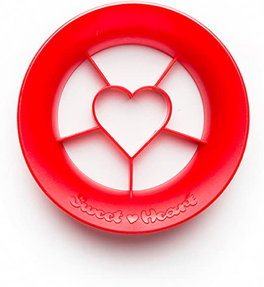 PELEG DESIGN Sweet Heart, Heart Shaped Strawberry Cutter, Strawberry Slicer  Fruit Cutter, Unique Kitchen Gadgets Kitchen Tools, Red
