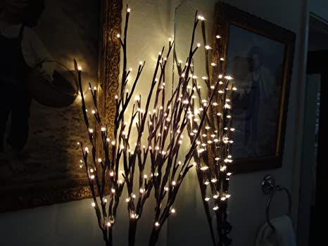Lights Branches Willow Branches Lichterdeko Twigs with Lights//30 LED//H120cm