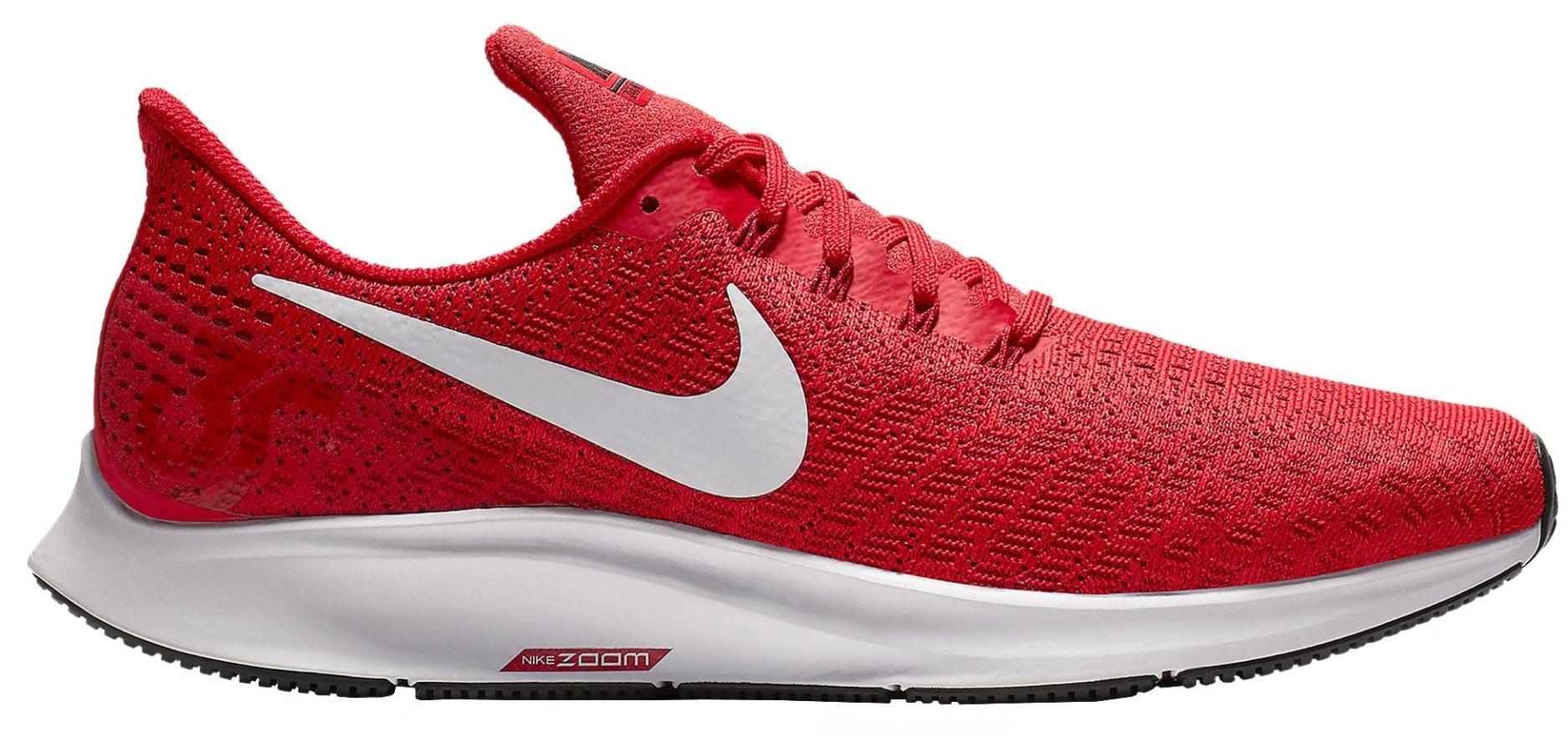 Nike Men's Air Zoom Pegasus 35 Running Shoes, Red/White (US 11.5, University RED/White-Tough RED-Black)