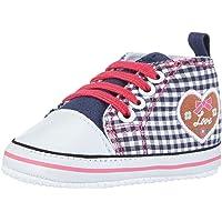 Playshoes Primeros Zapatos Patrón del Corazón, Zapatillas Casual Unisex bebé