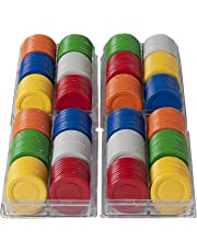Brimtoy 25mm Roulette / Poker Chips. 6 Colours. 240 pieces