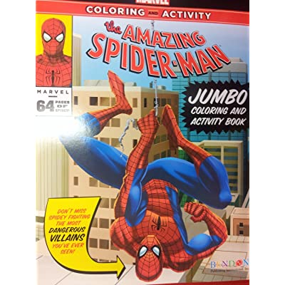 The Amazing Spiderman Jumbo Coloring and Activity Book (64 Pgs): Toys & Games