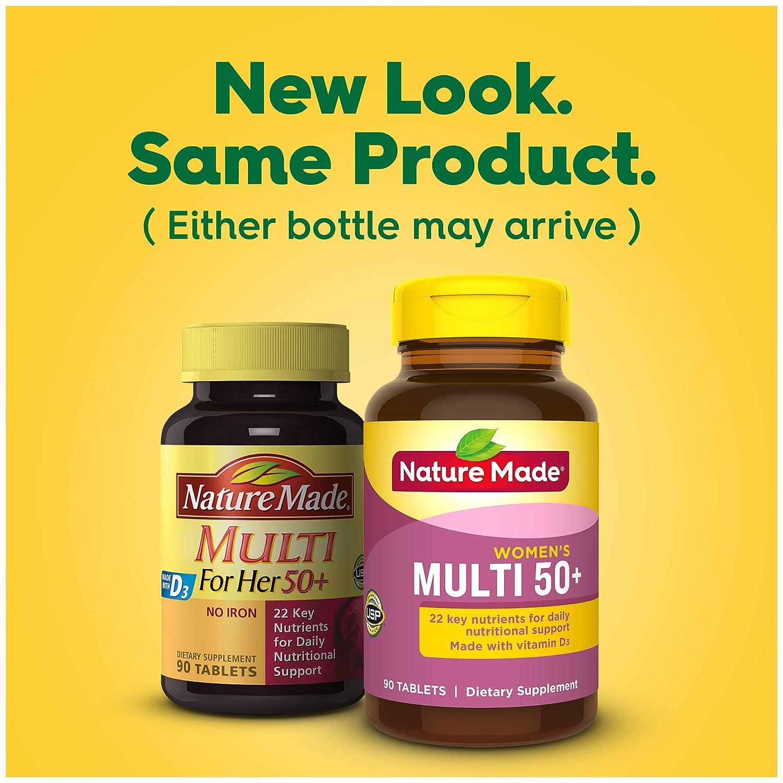 Amazon.com: Nature Made Multi para ella 50 + múltiples ...