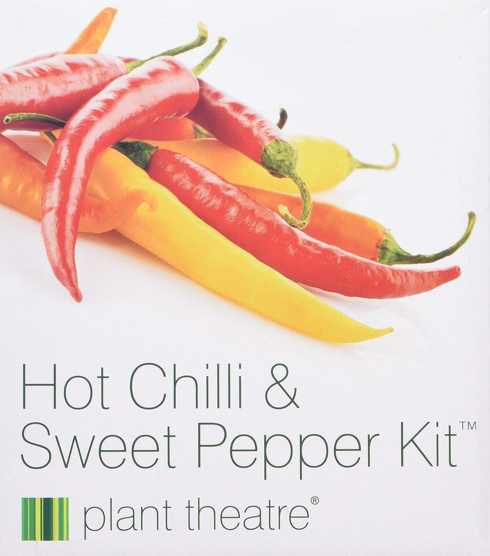 Kit Chili & Paprika von Plant Theatre - 6 verschiedene Sorten zum Züchten - Ein tolles Geschenk 278711A