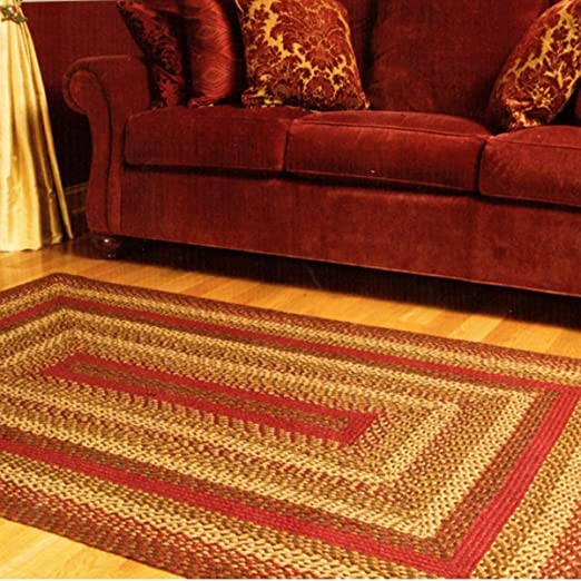 8 Diameter 8 feet in Diameter Safavieh Braided Collection BRD303A Hand Woven Rust and Multi Round Area Rug