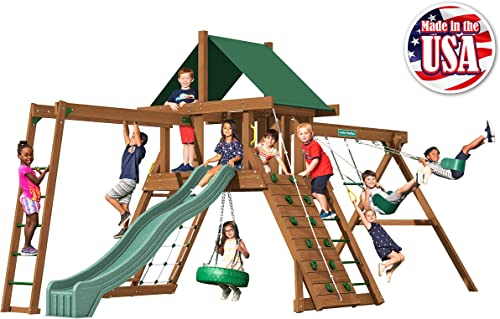 Creative Playthings Classic Series Northbridge Swing Set Made in The USA Northbridge Pack 2