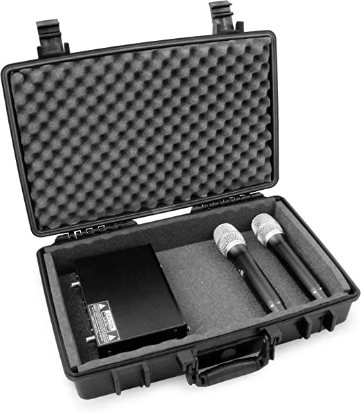 Nady Shure Mic VocoPro and More Handheld Transmitter Mics Case Only Audio-Technica Microphones Case Club Wireless Microphone System Hard Case Fits Up to 10 Sennheiser