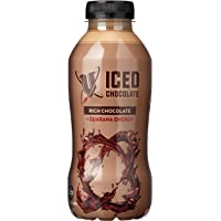 V Energy Iced Chocolate Guarana Energy Drink Bottle, 12 x 500 Milliliters