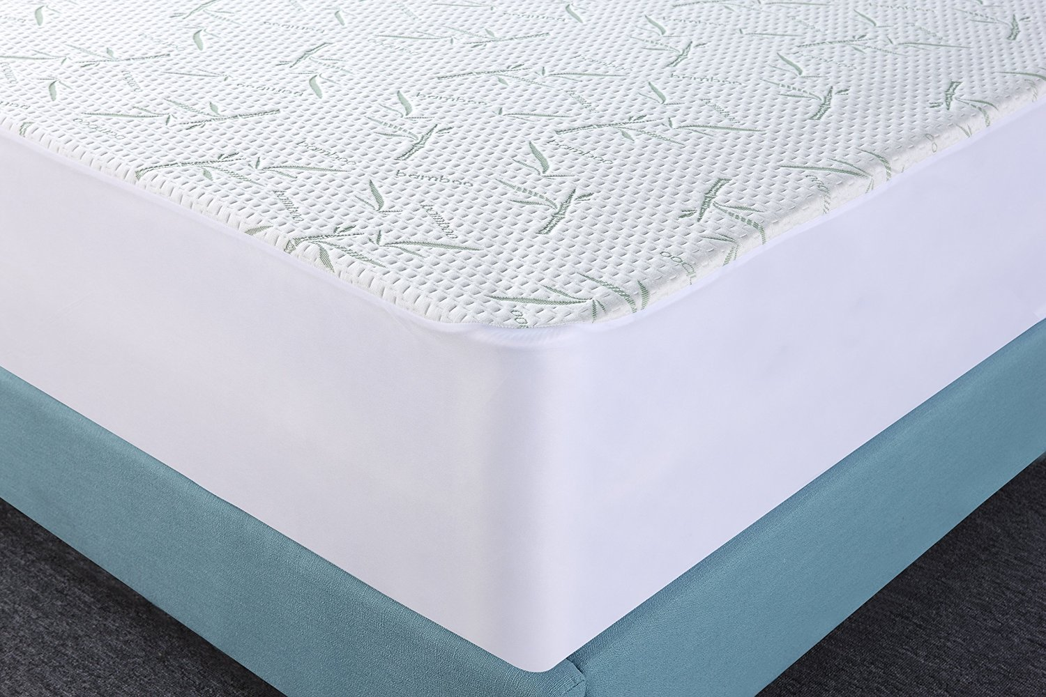 Amazon.com: Waterproof Bamboo Mattress Protector - Hypoallergenic fitted Mattress  Cover - Breathable Cool Flow Technology - Vinyl Free (Queen) - by Utopia ...