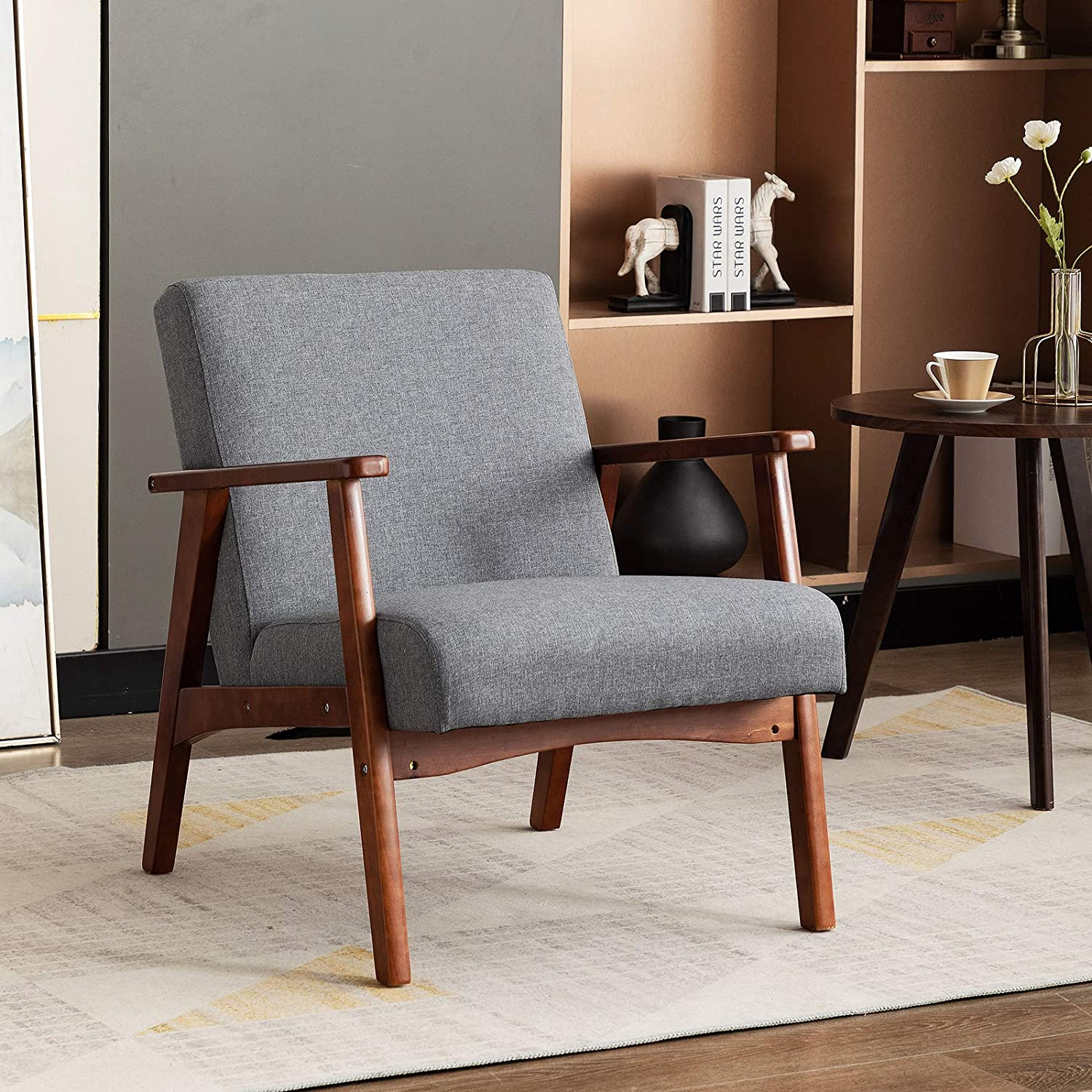 Artechworks Mid-Century Retro Modern Fabric Accent Upholstered