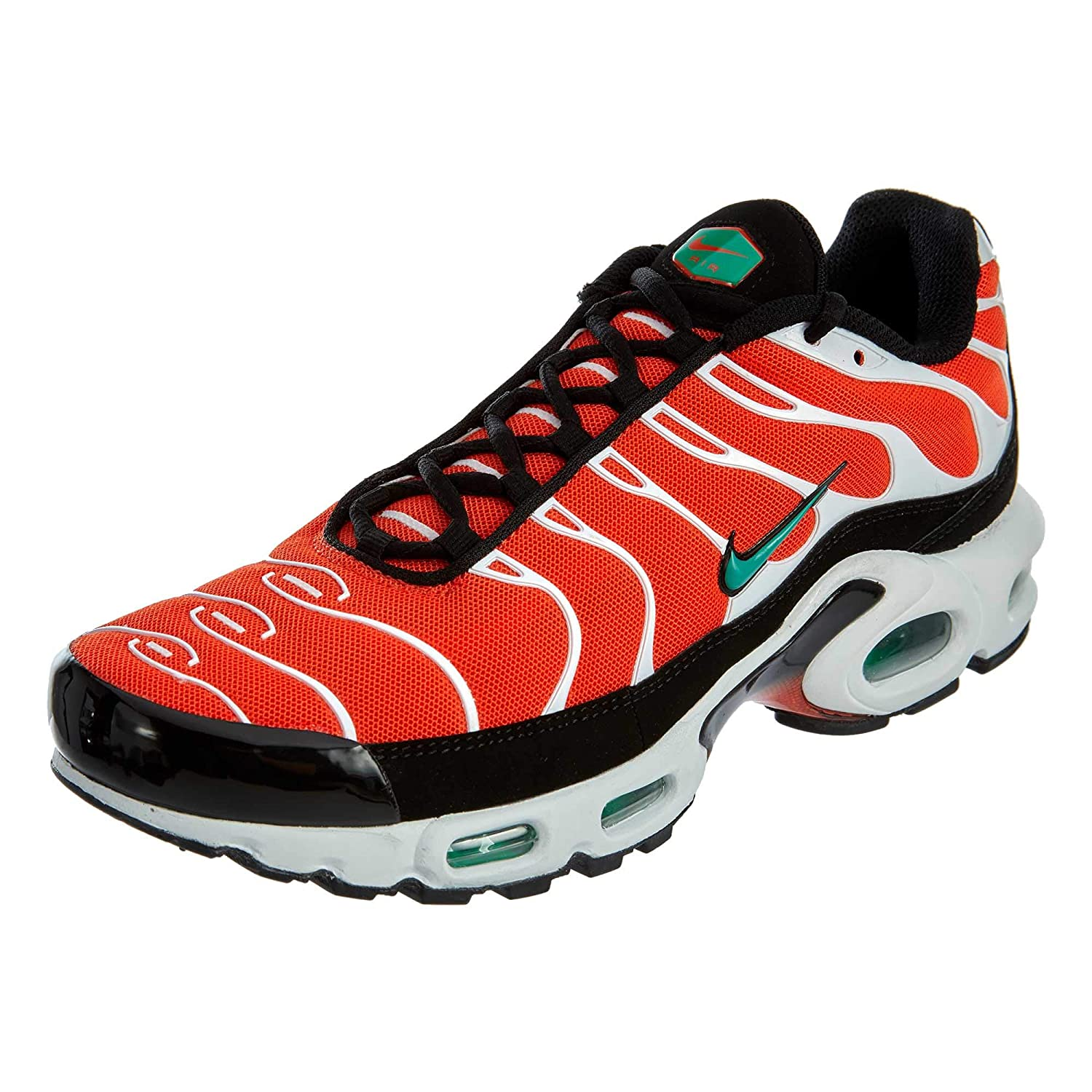 best sneakers 47ee0 52eae Nike Men's Air Max Plus Team Orange/Neptune Green/White/Black Nylon Casual  Shoes 11 (D) M US