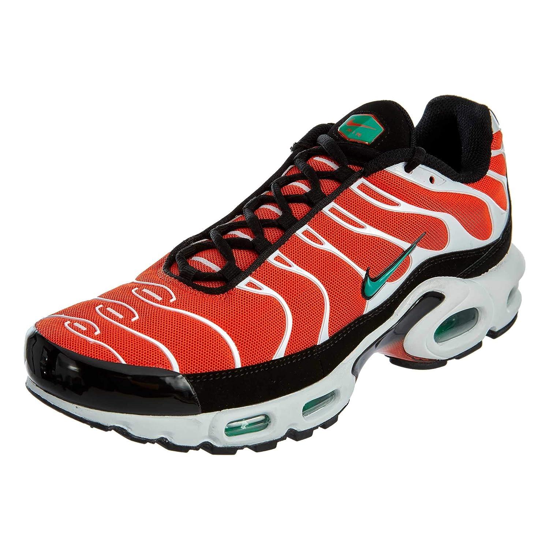 best sneakers 19c70 195d1 Nike Men's Air Max Plus Team Orange/Neptune Green/White/Black Nylon Casual  Shoes 11 (D) M US