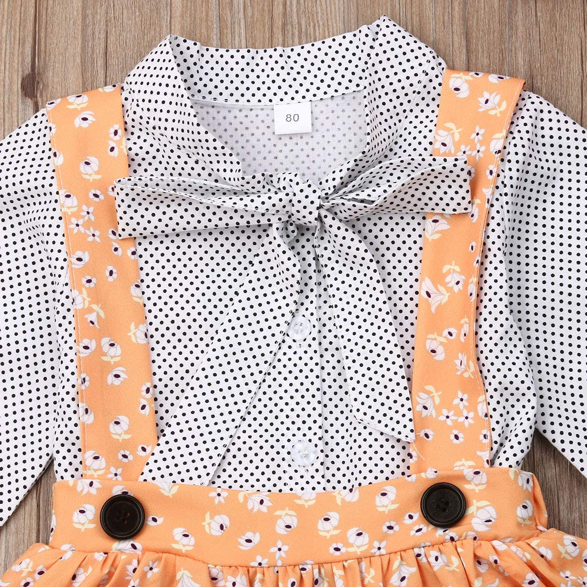Baby Girls 3PCS Skirt Sets with Headband Toddler Kids Girls Bowknot Shirt Skirt Outfits Set Sundress Princess Summer Dress