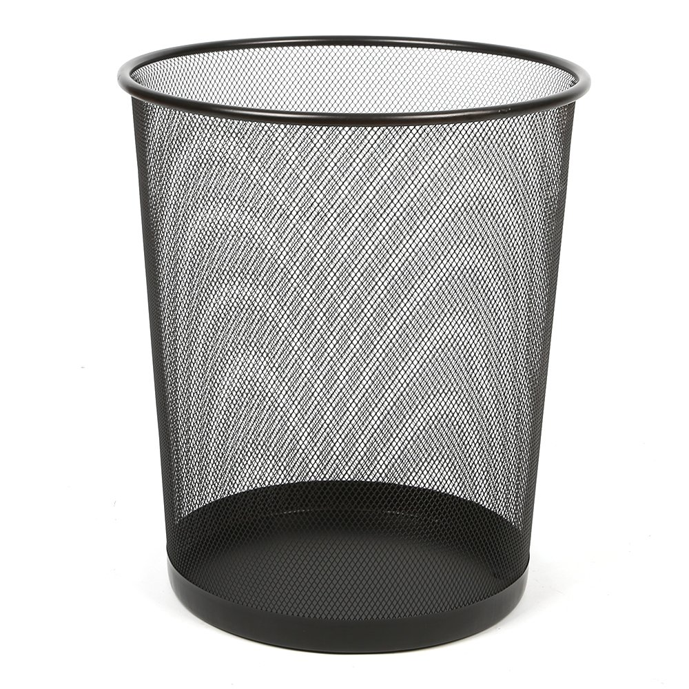 f77110163d3a Aojia AJ 2 PACK Mesh Round Paper Wastebasket (10.5''X 8.6''Dx10.8''H),  ly9102-2