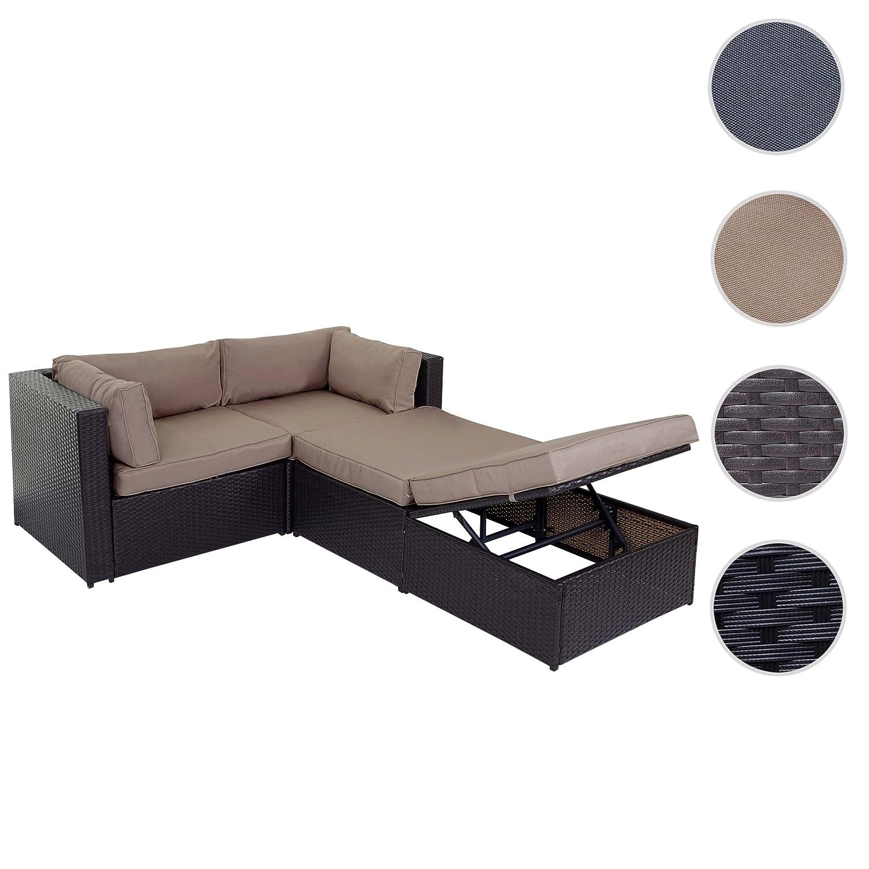 Poly-Rattan-Garnitur Adana, Gartengarnitur Sitzgruppe Lounge-Set ...