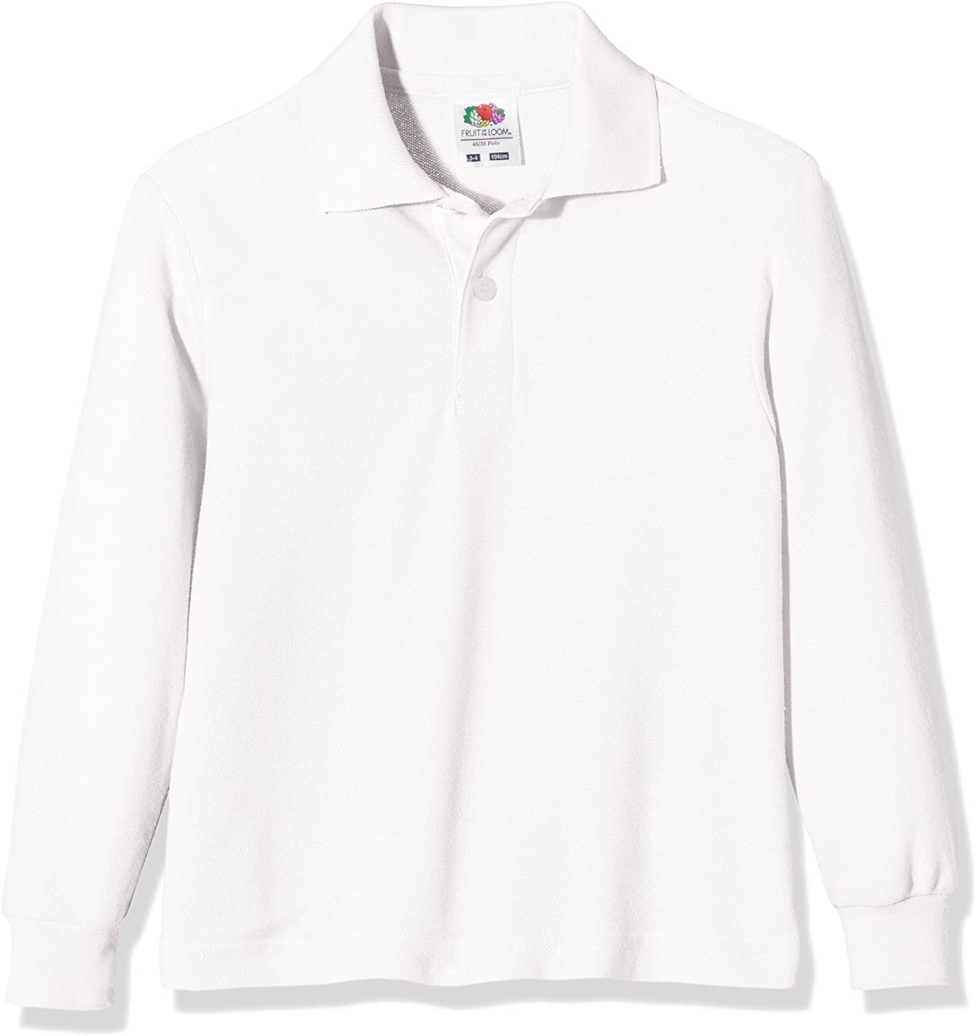 Pacco da 3 Fruit of the Loom Childrens Polo Bambino