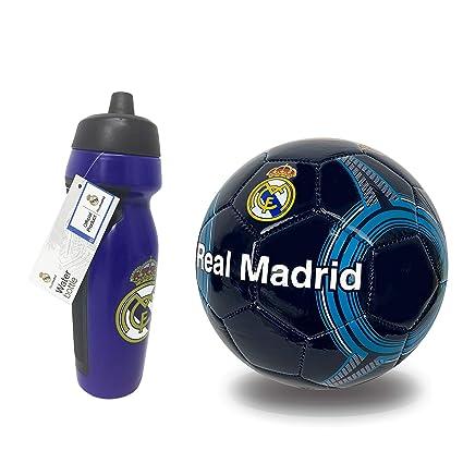 Amazon.com: Botella de agua Real Madrid con bola de fútbol ...