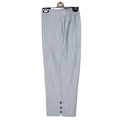 ff37940d5924 Elegant Vap Ladies 3 4 Linen Look Trousers Women Capri Cropped Pants Summer  Shorts Plus Sizes UK 10-24 (26