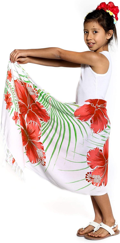 1 World Sarongs Girls Plumeria Half Sarong