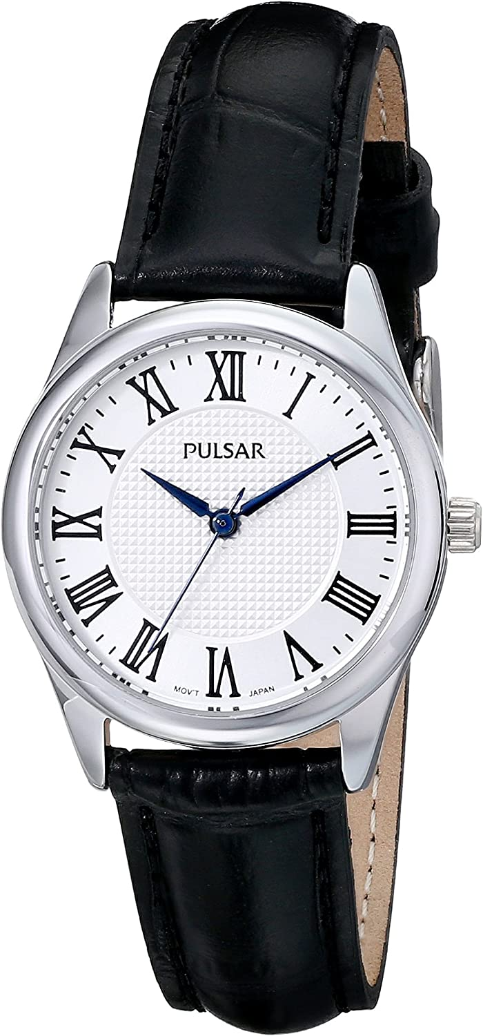 Pulsar Women s PG2017 Analog Display Japanese Quartz Black Watch