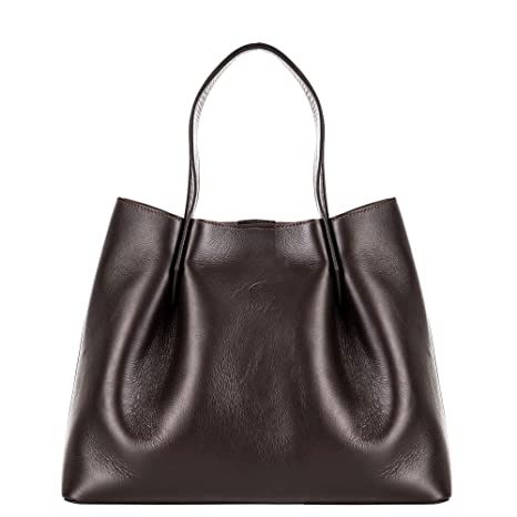 4df842c145 Rosa Lou Firenze | Vivien - Shopping Bag in Vera Pelle, Made in Italy -  Grande, Sauvage Testa di Moro