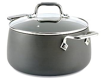 All-clad e7854464 HA1 anodizado duro antiadherente apta para lavavajillas PFOA libre sopa Pot/olla batería de cocina: Amazon.es: Hogar