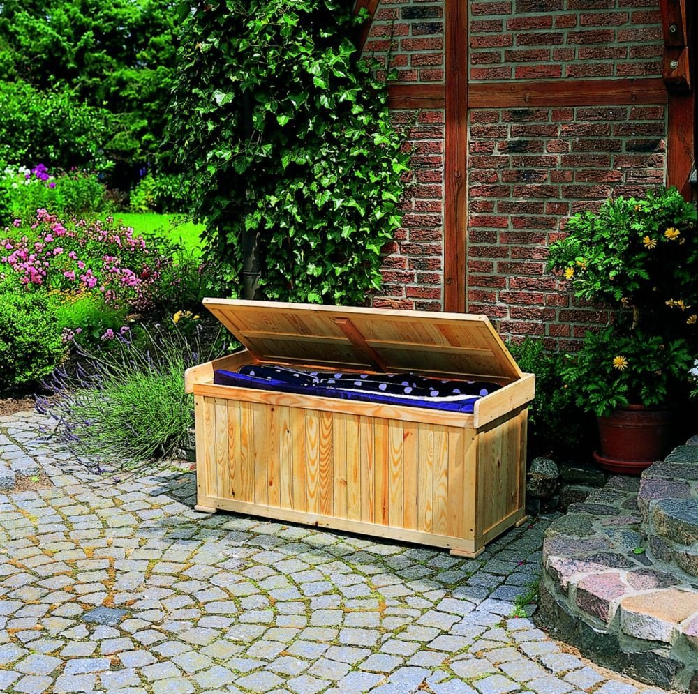 Kissenbank Mit Auflage Sitztmobel Kissenbox Holz Gartenmobel