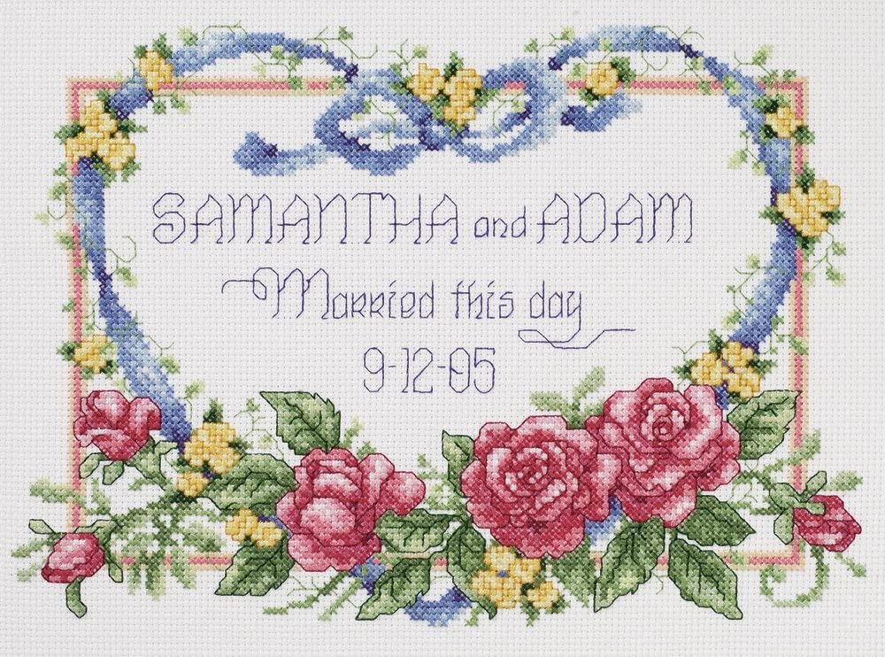 """One Love Counted Cross Stitch Kit-14/""""X12/"""" 14... Janlynn RGRAMP.47728 Two Hearts"""