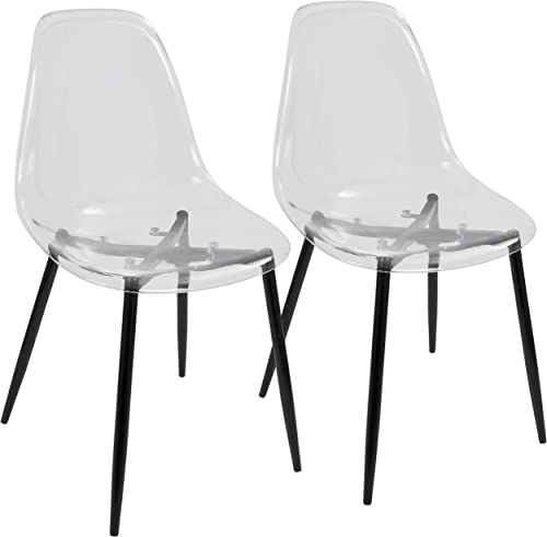 WOYBR Polycarbonate Metal Dining Chair