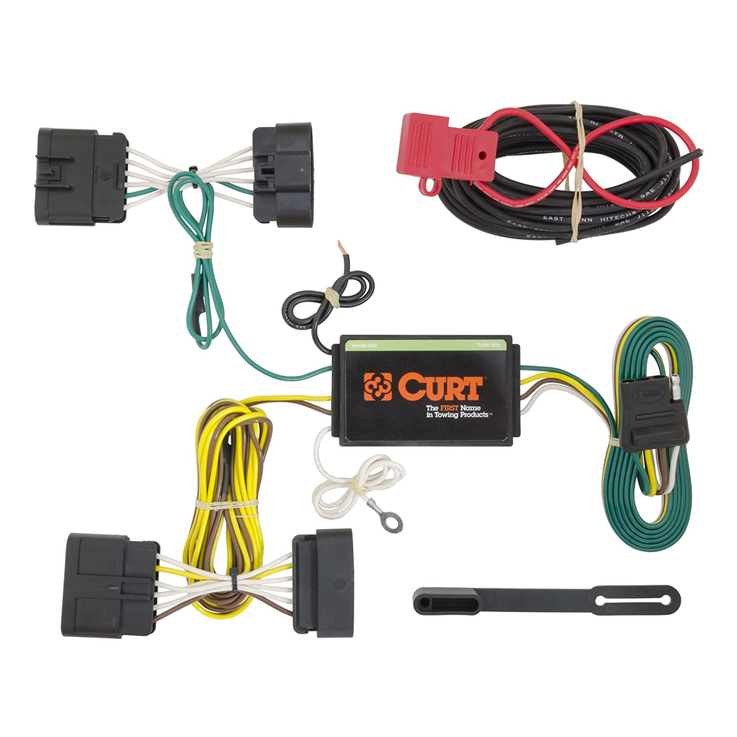 amazon com curt 56198 custom wiring harness automotive rh amazon com curt trailer wiring harness kit 55384 curt trailer wiring harness kit 55384