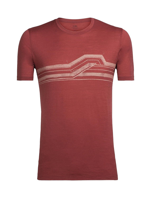 Icebreaker Herren Tech Lite Ss Crewe Seismic Stripe T-Shirt