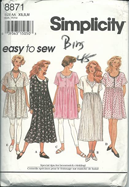 Amazon Simplicity 60 AA Sewing Pattern Use To Make Misses Extraordinary How To Make Sewing Patterns