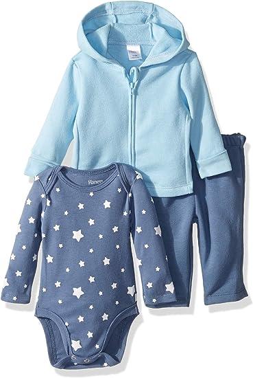 Essentials Unisex Baby 3-Piece Microfleece Hoodie Set