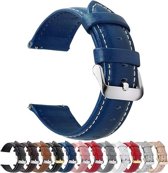 Fullmosa Axus Correa Piel, 12 Colores para Correa Reloj, Huawei ...