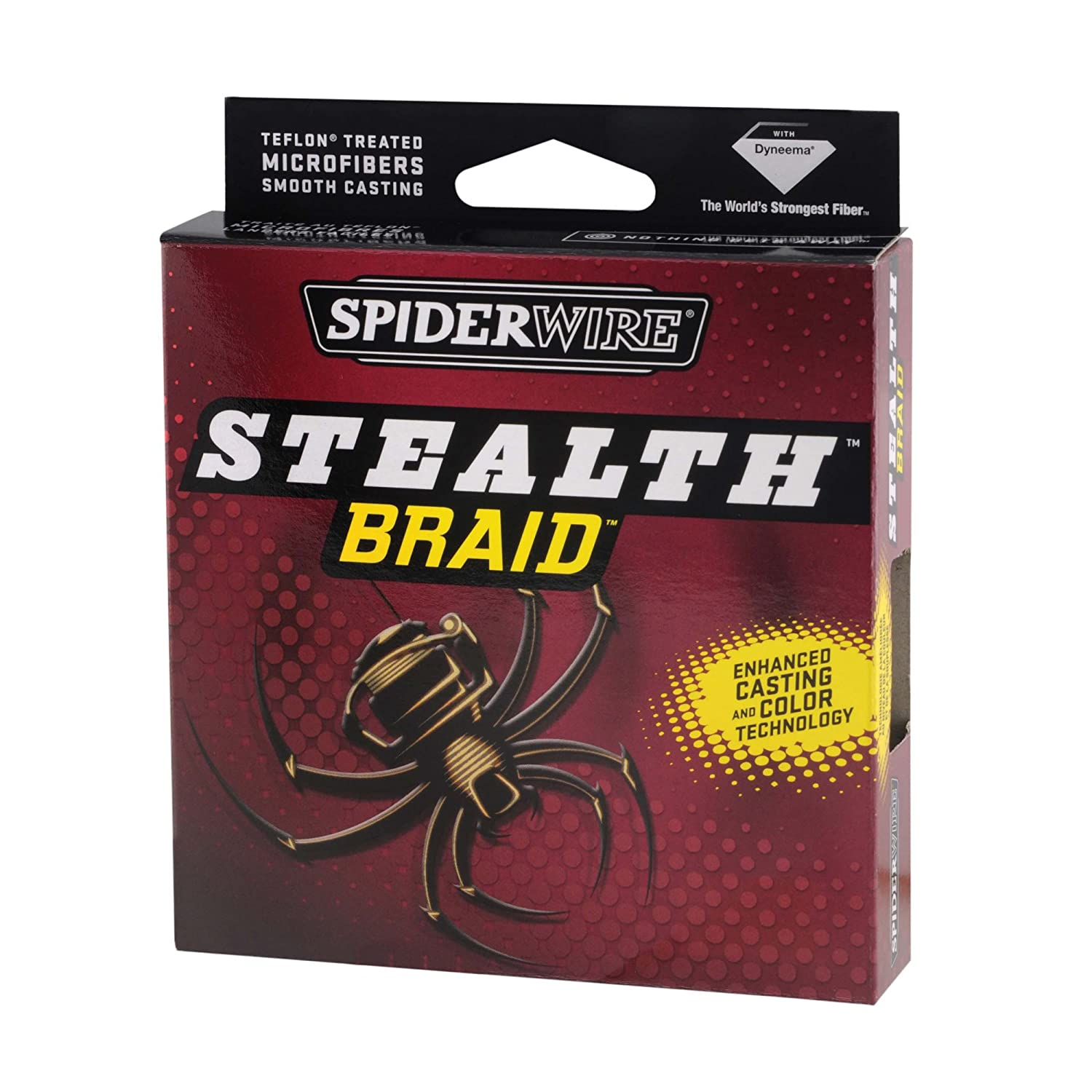 Amazon.com : Spiderwire 125-Yard Stealth Glow-Vis Braid Fishing Line ...