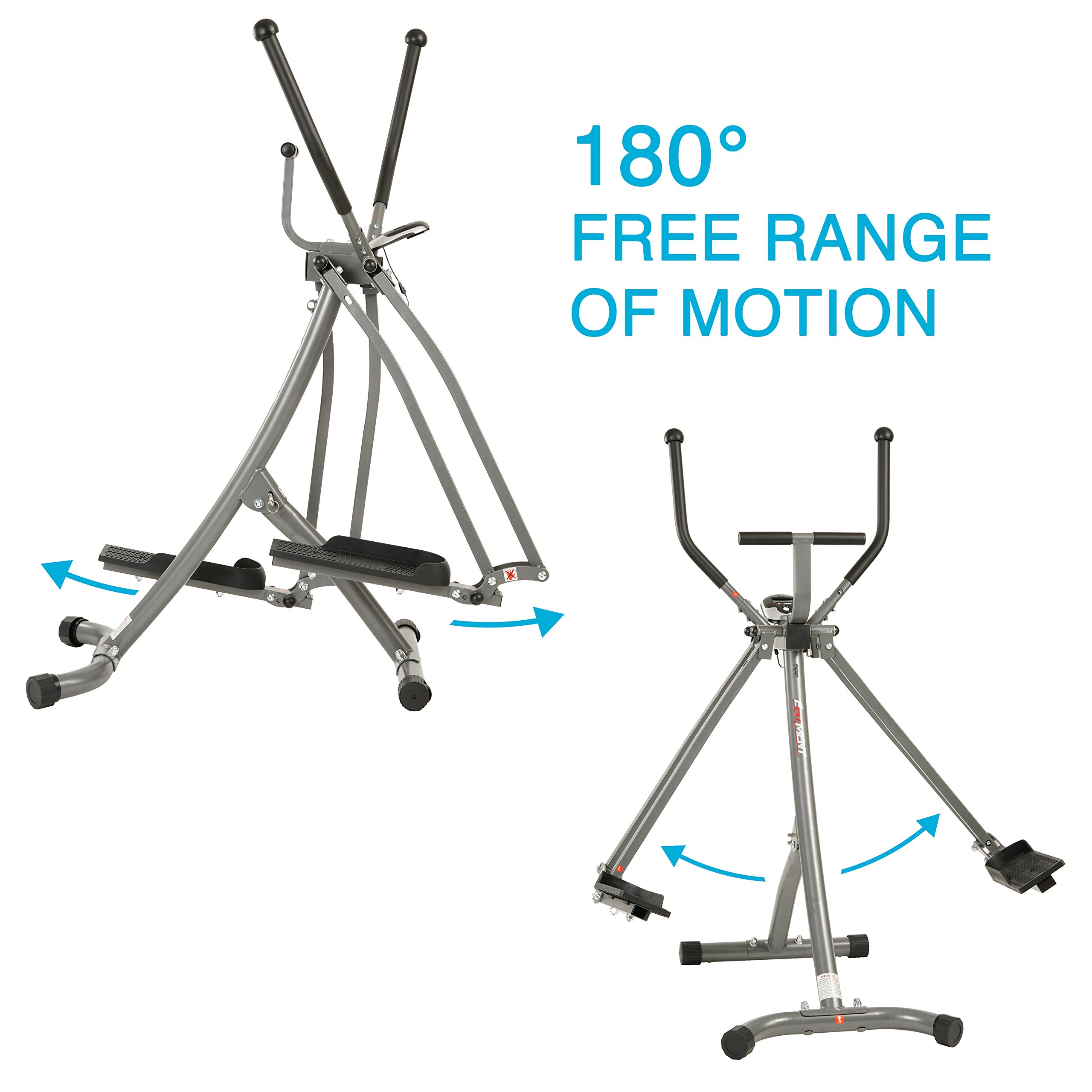 EFITMENT Air Walker Glider Elliptical Machine with Side Sway Action & 360 Motion for Exercise and Fitness - E020 by EFITMENT (Image #3)