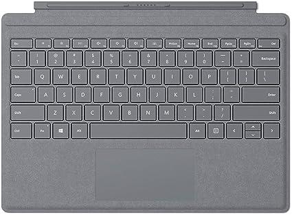 amazon com microsoft surface pro signature type cover platinum