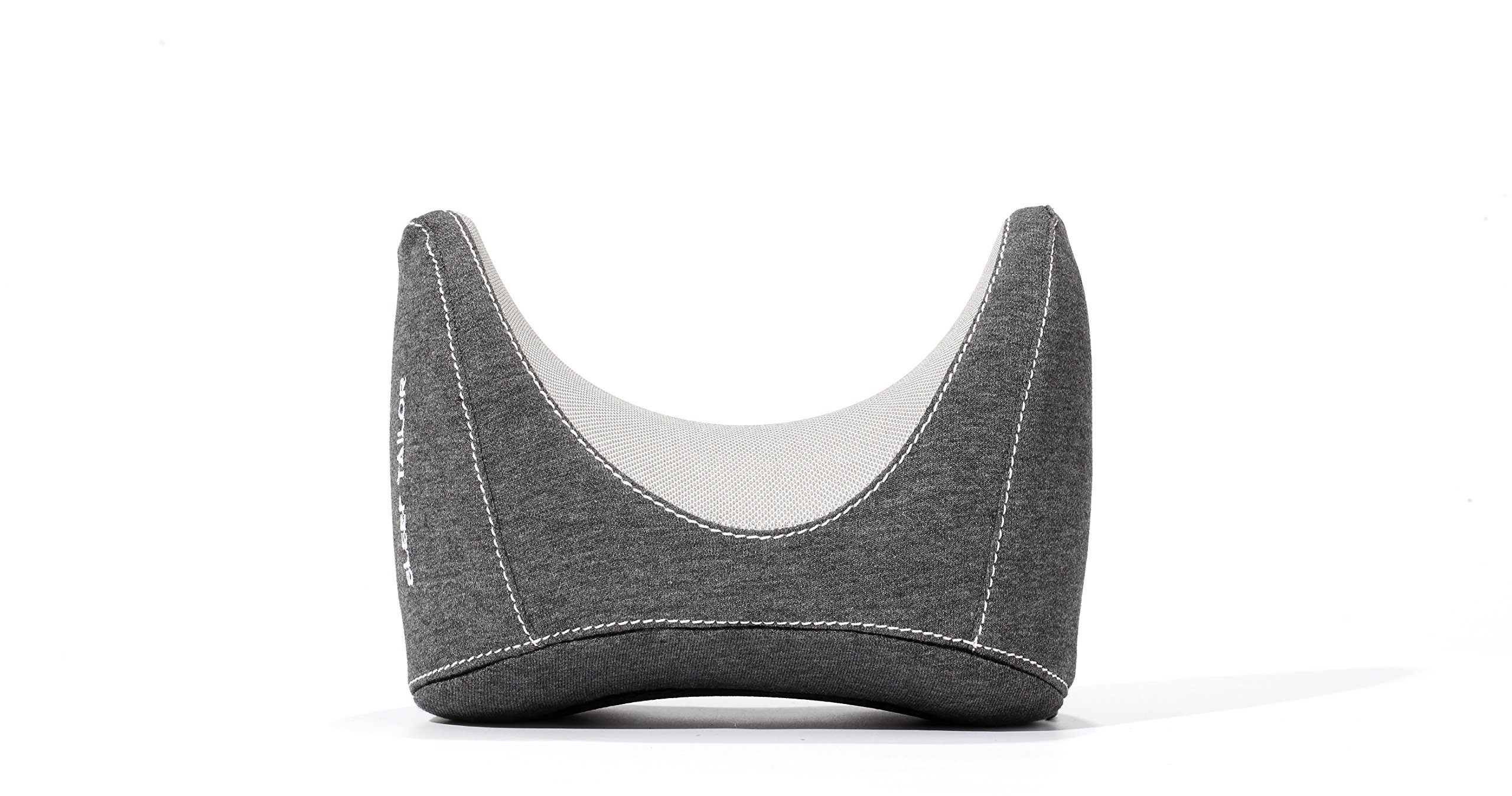 COMPACT LIGHTWEIGHT Travel Neck Pillow - Super Small and Lightweight Breathable Memory Foam Pillow for Head Neck Chin Shoulder Support Machine Washable Cover for Rest on Long Trip for All Ages GREY
