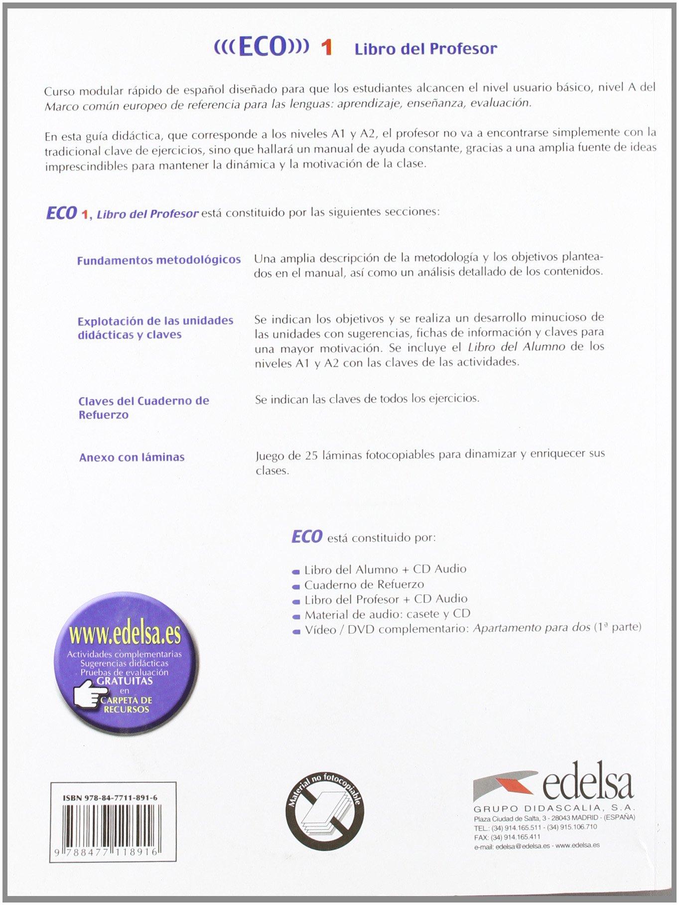 Eco 1 a1 a2 libro del profesor cd audio spanish edition eco 1 a1 a2 libro del profesor cd audio spanish edition a gonzalez c romero 9788477118916 amazon books fandeluxe Images